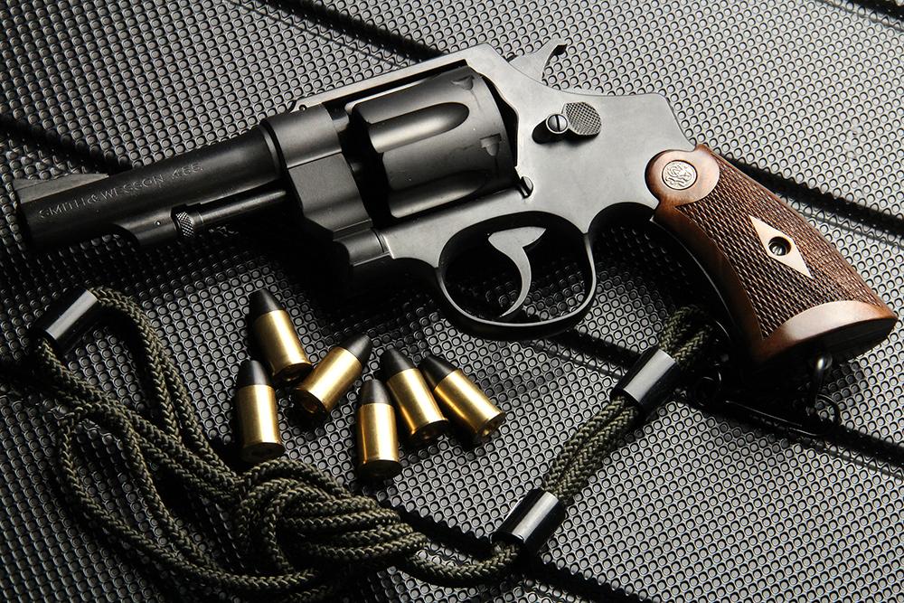 S&W M1917 パーカライジング 4インチ 発火式モデルガン ウッドグリップカスタム