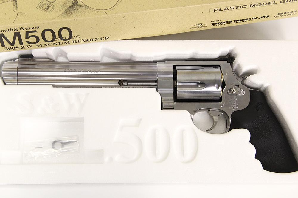 S&W M500 8 3/8インチ ステンレス マグナムリボルバー 発火式モデルガン