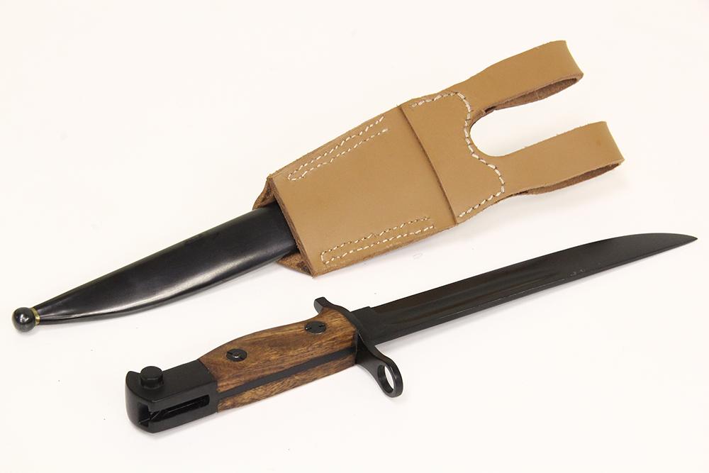 WSC257/B 二式銃剣 ブラック・皮剣差鉄鞘付