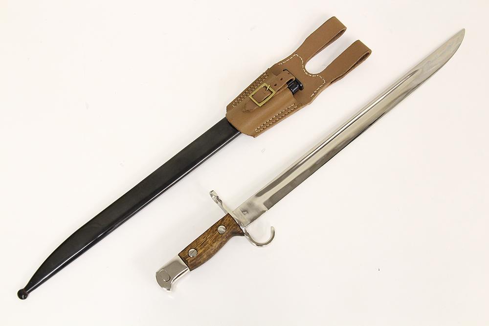 ウインドラス 803278/S 三十年式銃剣 シルバー・皮剣帯鉄鞘付