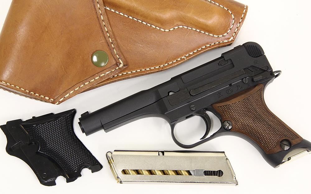 九四式自動拳銃 前期型 ダミーカートモデルガン ウッドグリップカスタム