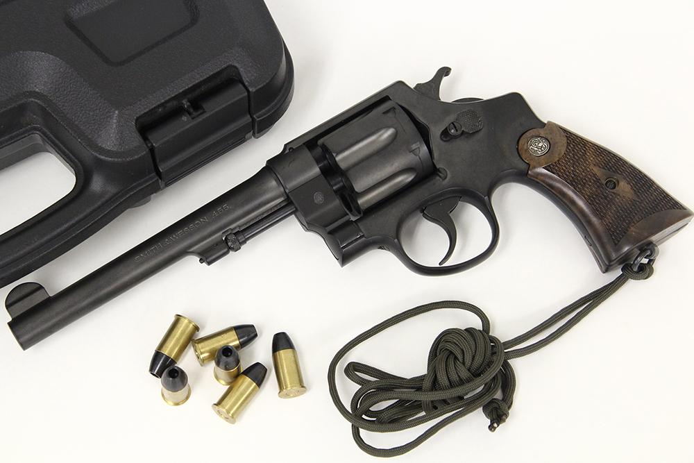 S&W M1917 HE2 6.5インチ パーカライジング 発火式モデルガン ウッドグリップカスタム