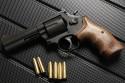 Smith&Wesson M586 4インチ HW 木製グリップ ホルスター付き