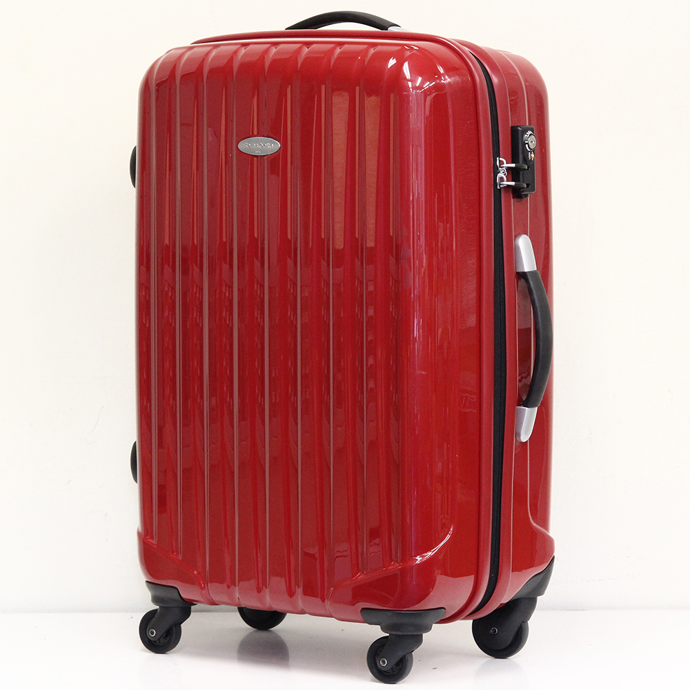 スーツケース レッド 4輪 TSAロック付