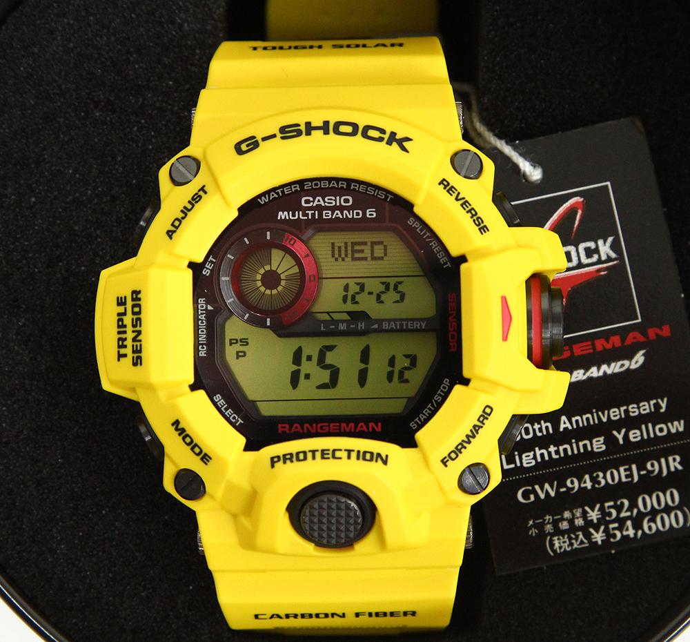 G-SHOCK レンジマン RANGEMAN GW-9430EJ-9JR ライトニングイエロー 30周年記念限定モデル