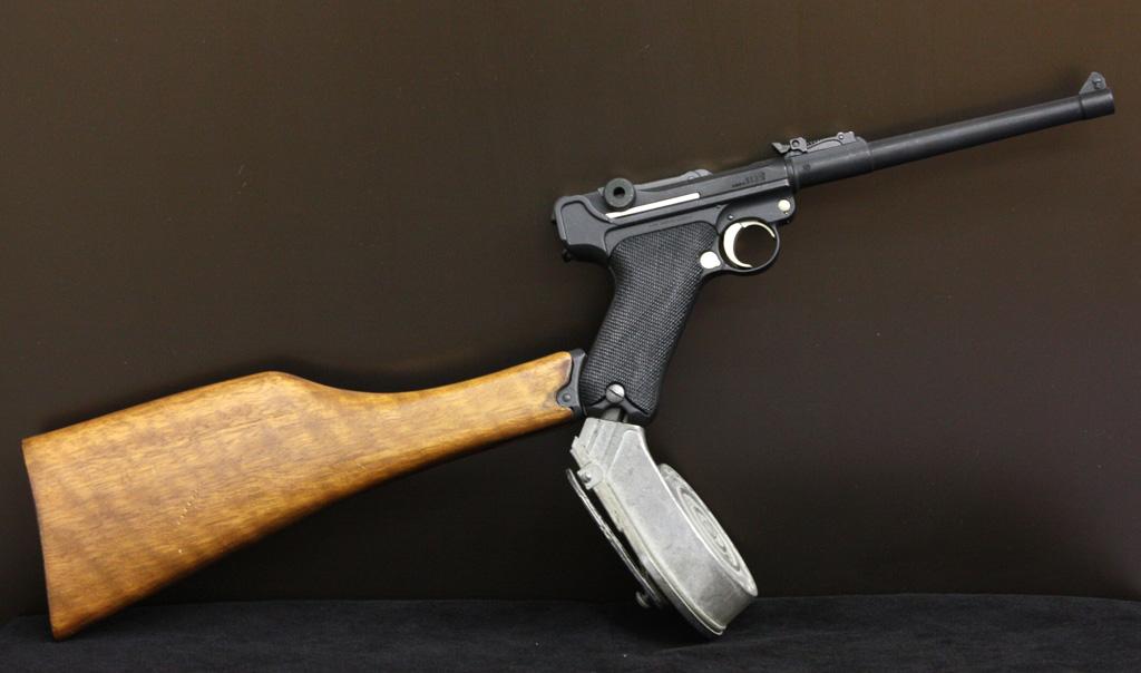 タナカ ルガーP08 8inch スネイルマガジン ウッドストック カスタム