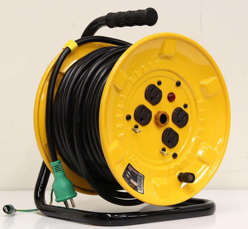 電工ドラム NP-E34 屋内型 ポッキンプラグ付