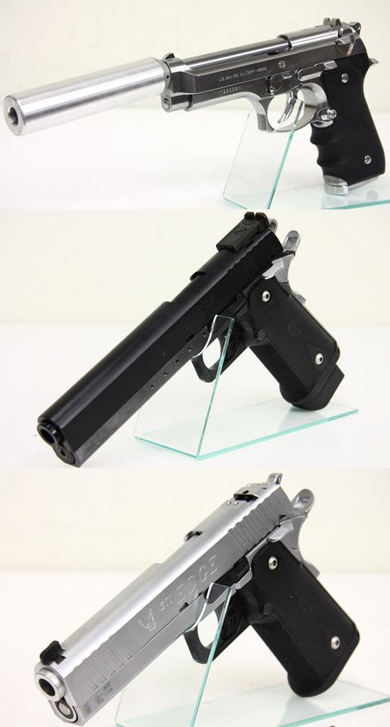 M92F クロームステンレス + STI ハンター 6.0 + エッジ 5.1 シルバー