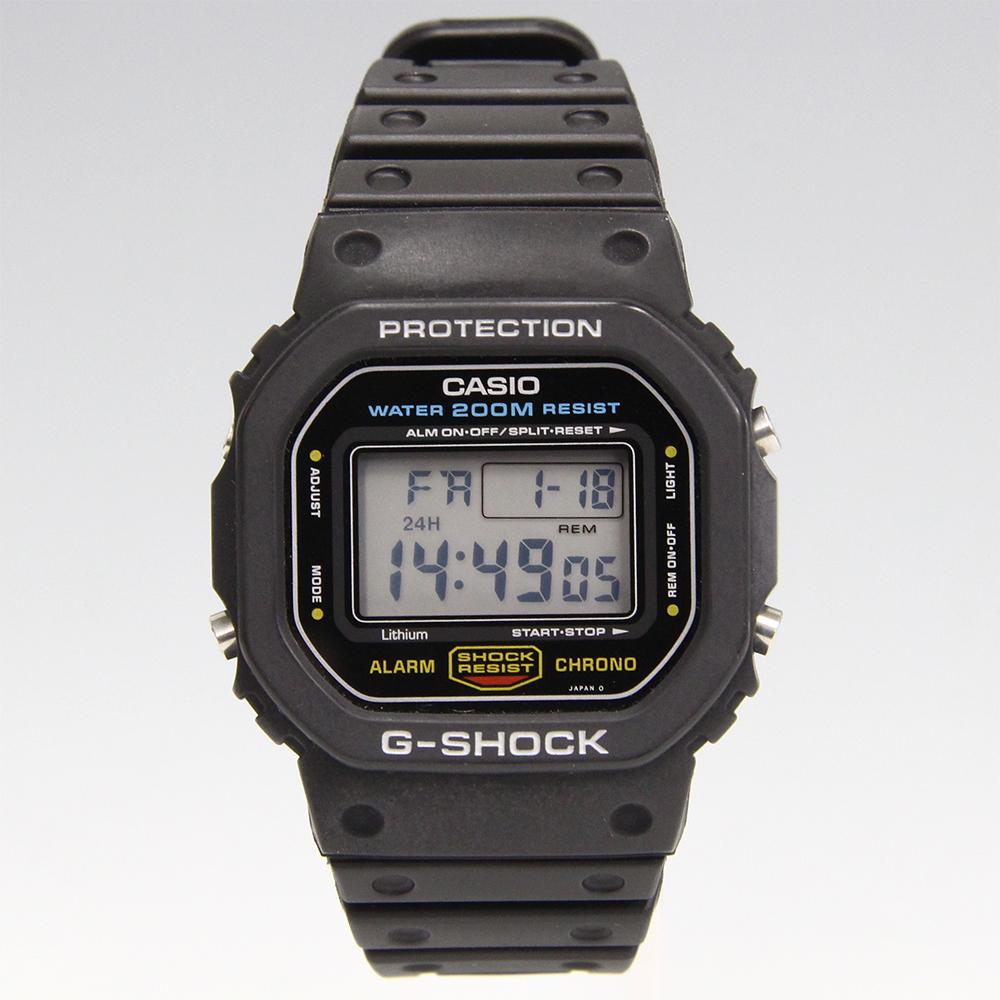 G-SHOCK スピード 901モジュール DW-5600C-1V 国内モデル グリーン豆球 裏蓋ヘアライン仕上げ