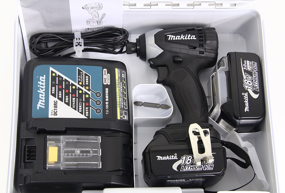 充電式インパクトドライバ TD146DX2B ブラック