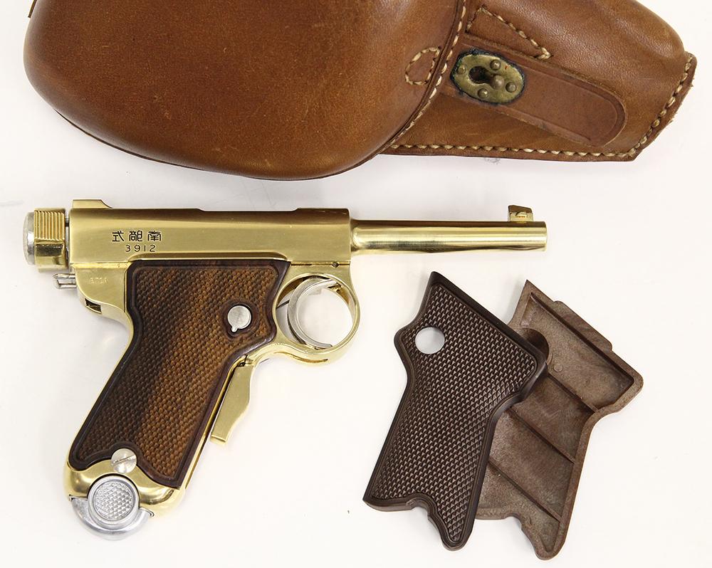 ベビー南部 南部式小型自動拳銃 御賜刻印入 グリップカスタム 金属モデルガン