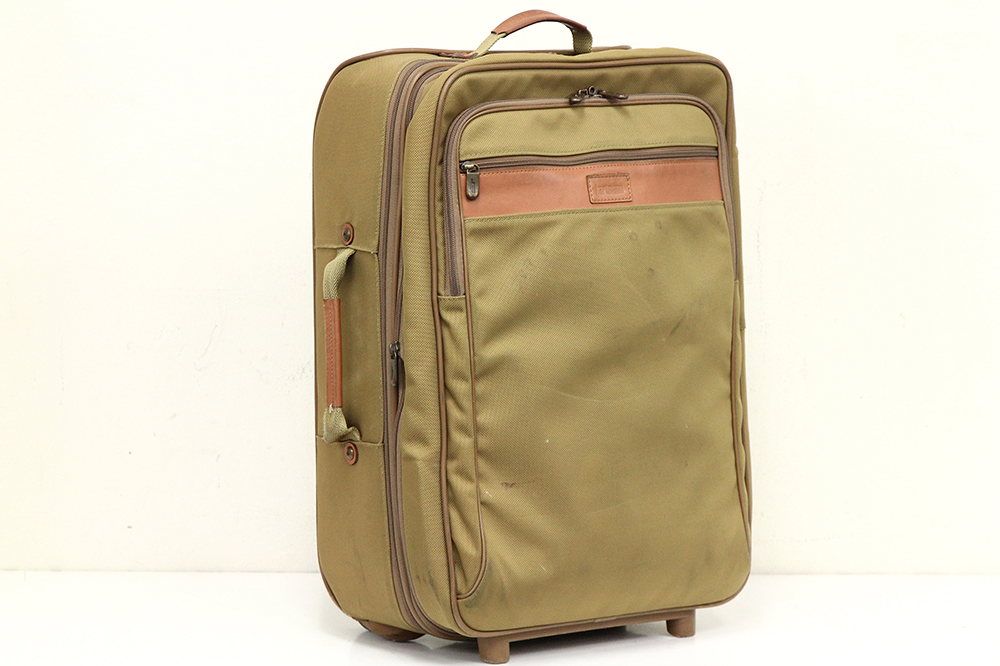 ソフトスーツケース 2輪 カーキ系色