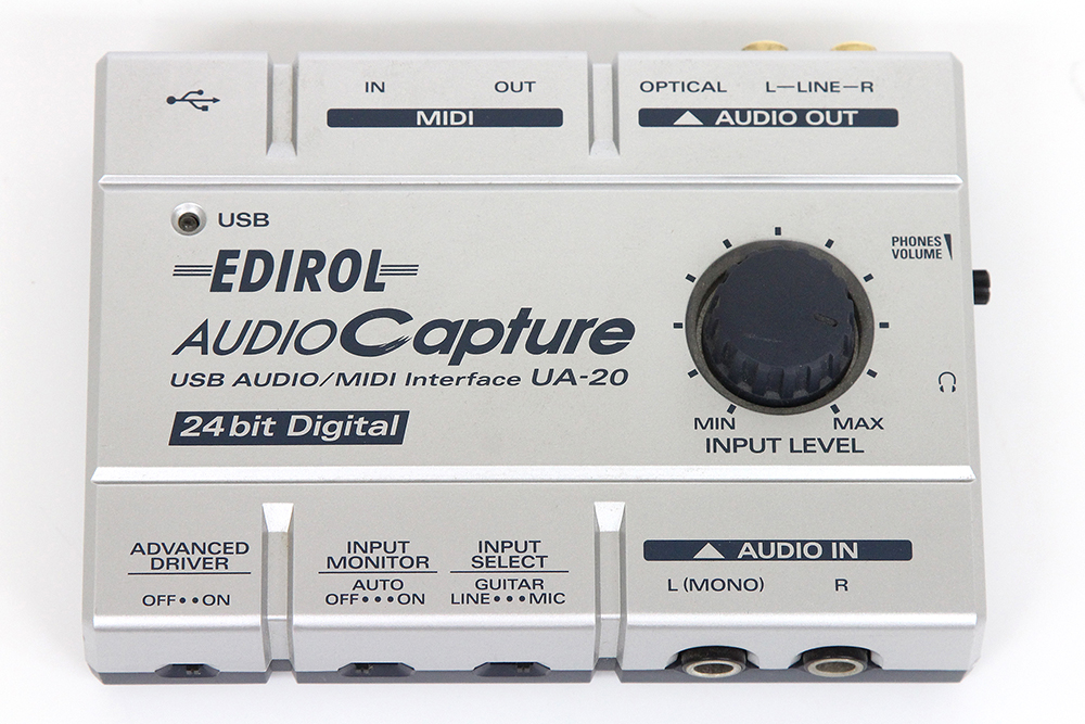 エディロール EDIROL UA-20 USBオーディオ MIDIインターフェース