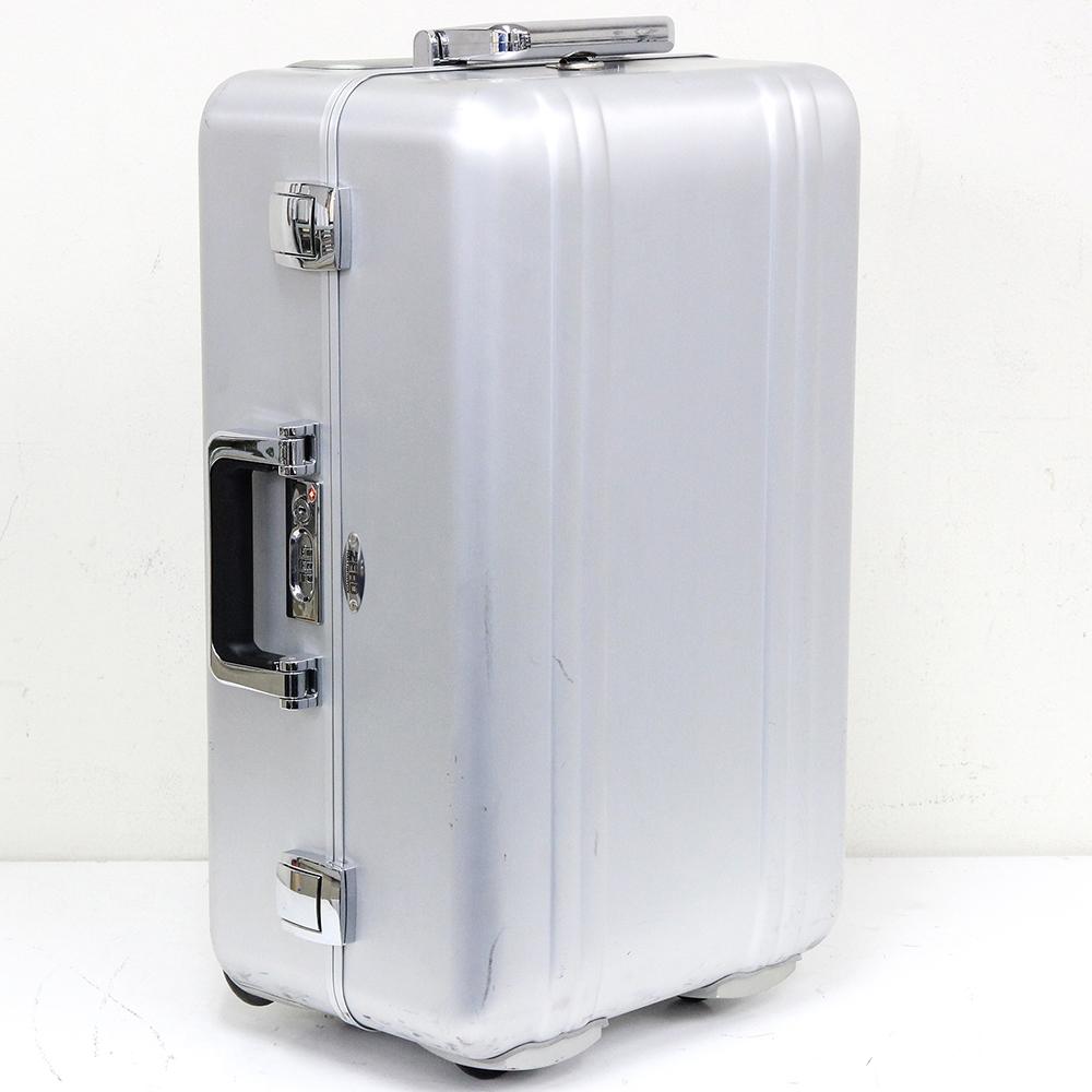 ゼローラー スーター ZR21 シルバー アルミ製 6輪 TSAロック付 スーツケース