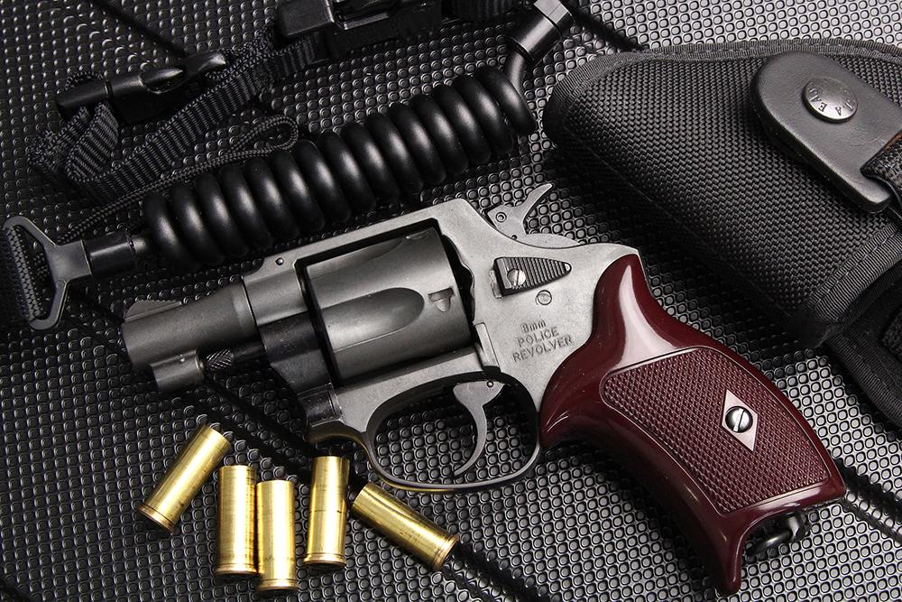 8mm ポリスリボルバー 2インチ ガスガン