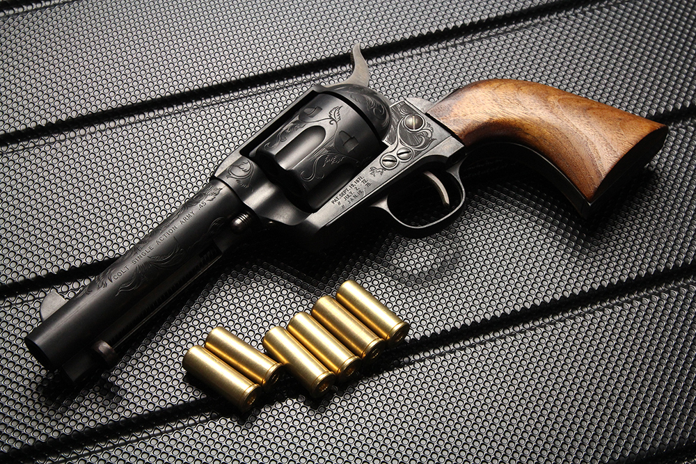 COLT SINGLE ACTION ARMY シビリアン モデルガン 彫刻入り