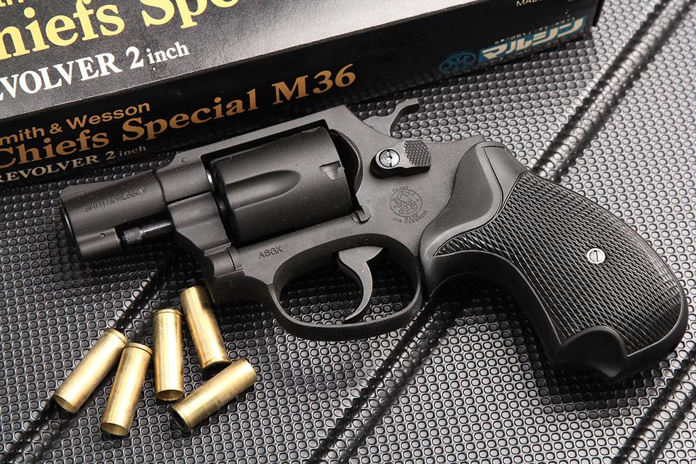 S&W M36 チーフスペシャル 2インチ HW ブラック ガスガン