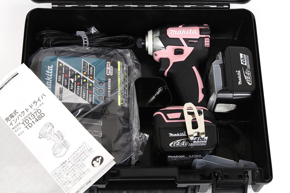14.4V 充電式インパクトドライバ TD137DRMXP ピンク 4.0Ah