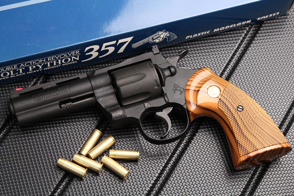 コルトパイソン357 4インチ HW モデルガン