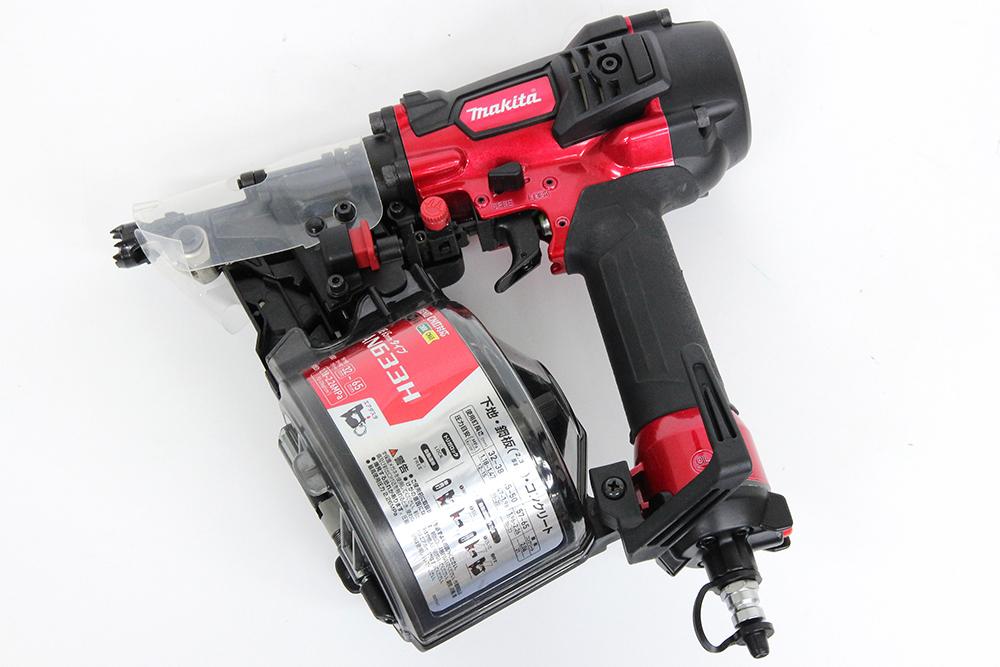 マキタ 65mm高圧エア釘打 AN633H 赤 エアダスタ付